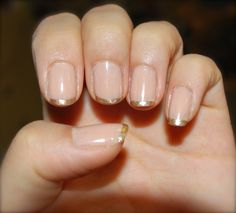 Gold Metallic Glitter French Tips! (: