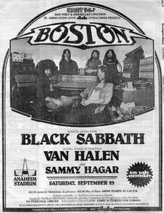 Poster Boston: Black Sabbath & Van Halen