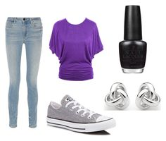"""""""Untitled #1"""" by laurenvhyde ❤ liked on Polyvore featuring Alexander Wang, Converse, Georgini and OPI"""