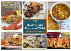 Favorite Recipes of 2014: Reader's Choice ...15 of our Easy-to-Make Recipes #recipes #breakfast #slow cooker #Main #dessert