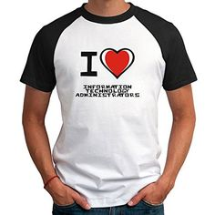I love Information Technology Administrator Raglan T-Shirt<div><div>This Information Technology Administrator Raglan T-Shirt has undergone extensive quality control before reaching you. We have over 10 years experience in selling products on the internet. The items are created by us and are even customizable! Just contact our great customer service for any questions. Information Technology Administrator Raglan T-Shirt</div><ul><li>This is an authentic idakoos Information Technology…