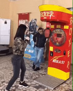 The perfect Boxing Girl Punch Animated GIF for your conversation. Discover and Share the best GIFs on Tenor. Funny Tweets, Funny Jokes, Hilarious, Lmfao Funny, Punching Ball, Beste Gif, Friends Gif, Boxing Girl, Funny Clips