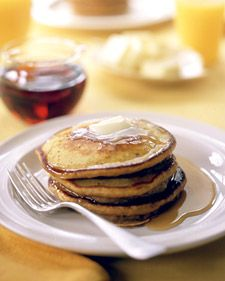 For a spiced breakfast treat, try pumpkin pancakes.