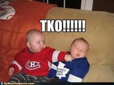 too cute - Canadian Humor: Hockey Rivalry Leafs vs. Hockey Baby, Ice Hockey, Football Soccer, Montreal Canadiens, Ufc, Meanwhile In Canada, Funny Sports Pictures, Funny Pics, Funny Quotes