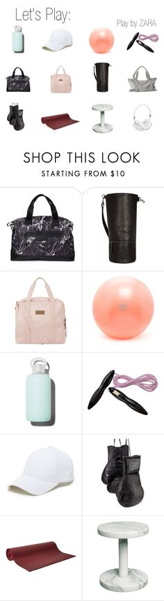 """zara play"" by thtxonegirlx on Polyvore featuring Balsa 201, JLEW Bags, adidas, Forever 21, bkr, Pineapple, Sole Society, Elisabeth Weinstock, Manduka and Frends"