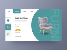 Furniture website designed by neko for VisualMaka. Connect with them on Dribbble; Best Ui Design, Design Web, Page Design, Website Design Layout, Web Layout, Layout Design, Maquette Site Web, Webdesign Layouts, Webdesign Inspiration