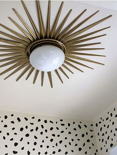 Swap out that ugly ceiling fixture! Get the easy how-to (it takes under and hour to complete!)