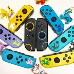 Be who you want and show off your unique style with Nintendo Switch! A joycon pair for every outfit, and an Eeveelution for (almost) every type! Buy Nintendo Switch, Nintendo Switch System, Nintendo Controller, Nintendo Games, Nintendo Switch Accessories, Pokemon, Cute Stitch, Gaming Room Setup, Cute Gif