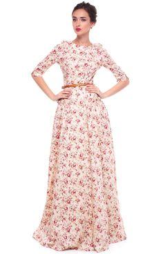 Цветочное платье от Ксении Князевой | Flower dress by Ksenia Knyazeva
