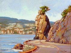 Seawall to Siwash Amanda Jones, Community Art, Painting, Painting Art, Paintings, Painted Canvas, Drawings