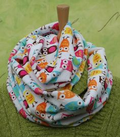 Accessories  Scarf  Owl Infinity scarf soft and by Madfishstuff, $21.00