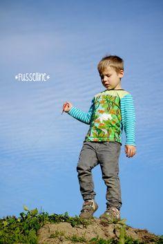 "Fussellines Blog: Shirt ""Moritz"" aus Znok Jurassic nach Frau Liebstes/ Ki-ba-doo"