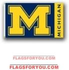 Michigan Wolverines 3x5 Flag - 1 left Michigan Wolverines, Astros Logo, Chevrolet Logo, Team Logo, Flags, Michigan Wolverines Football, National Flag