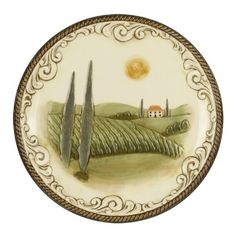 Grasslands Road Cucina Scenic Dinner Plate 11-Inch with Stand by Grasslands Road. $28.00. Dishwasher and microwave safe. Metal stand included. Gift boxed. Grasslands Road Cucina scenic dinner plate 11-inch with stand
