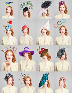 For 'Royal Wedding' inspired wedding guests, hats and headpieces by Bundle MacLaren http://bundlemaclaren.co.uk/