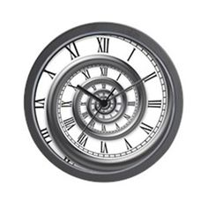 roman spiral Wall Clock on CafePress.com