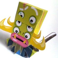 Shunobon, l'Horrible Samurai Fantôme by Jerom    http://www.paper-toy.fr/2013/02/08/shunobon-lhorrible-samurai-fantome/    #papertoys #papercraft #paper #arts #toys #yokai #monster #DIY