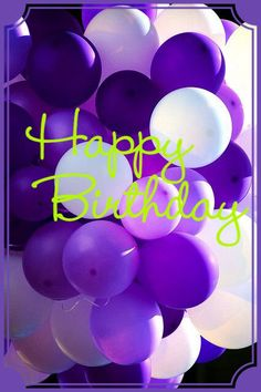 HBD Purple balloonsMrg