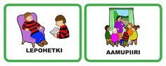 päivälokerikkokortit päiväkotiin Vocabulary, Family Guy, Language, Teaching, Education, Comics, Pictures, Fictional Characters, Photos