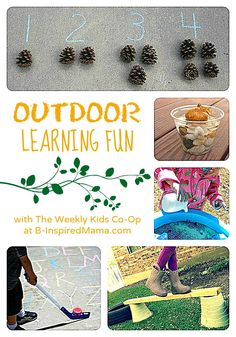 Outdoor Learning Fun with The Weekly Kids Co-Op at B-InspiredMama.com