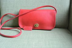 Coach NYC Dinky Bag in Red by TheAdventurersLegacy on Etsy