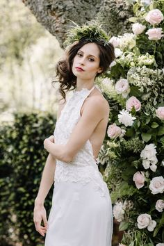 bride in garden Always Andri Wedding Planner   Designer Beccy Goddard Photography Chelsea Physic Garden Photoshoot