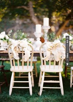 So good! - bow chairs | CHECK OUT MORE IDEAS AT WEDDINGPINS.NET | #weddings #rustic #rusticwedding #rusticweddings #weddingplanning #coolideas #events #forweddings #vintage #romance #beauty #planners #weddingdecor #vintagewedding #eventplanners #weddingornaments #weddingcake #brides #grooms #weddinginvitations