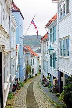Old streets of Bergen, Norway