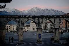 La Piazza di Sulmona ... Sulmona Italy -- where my dad was born & raised <3