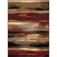 Decorate your home with elegance and style using this abstract contemporary area rug made from polypropylene. The combination of red, blue, and beige shades creates a beautiful abstract pattern that can complement the aspect of any room.
