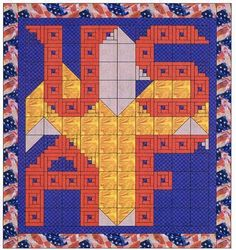 United States Air Force Quilt Pattern, Alphabet Soup by AD Designs Quilt Kits, Quilt Blocks, Star Blocks, Quilting Templates, Quilt Patterns, Quilting Ideas, Sewing Projects, Projects To Try, Cross Stitch Letters