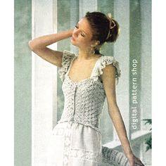 Crochet Camisole Pattern Vintage 1970s door DigitalPatternShop
