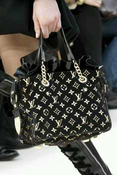 9256f01cacc Gold   Black Louie V Lv Bags, Purses And Bags, Cheap Purses, Tote