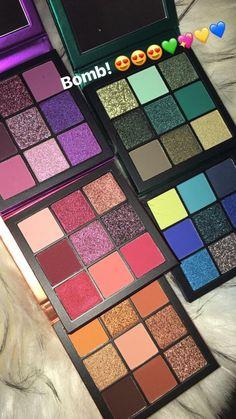 huda beauty gemstone obsessions palettes - full_make_up_pintennium Makeup Goals, Makeup Kit, Makeup Inspo, Skin Makeup, Makeup Eyeshadow, Makeup Cosmetics, Makeup Brushes, Beauty Makeup, Eyeliner
