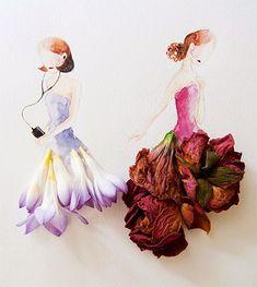 Lim Zhi Wei Flower Dresses
