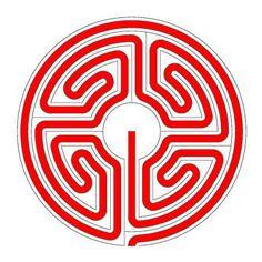 Das römische Labyrinth im Schwanberglabyrinth