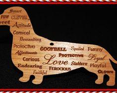 Custom, Personalized, Dachshund Ornament, Wiener Dog, Sausage Dog, Doxie, Christmas Ornament, Wood Dog Ornament