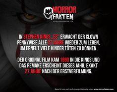 Stephen Kings ES 27 Jahre.. Zufall?  #horrorfilmfakten