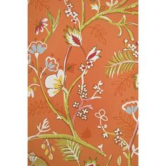 Thibaut Guadeloupe Floral Wallpaper (6.970 RUB) ❤ liked on Polyvore featuring home, home decor, wallpaper, thibaut, flowered wallpaper, thibaut wallpaper, monkey home decor and floral wallpaper