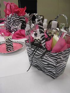 Any party really~~Zebra Party Favors at a Baby Shower #zebra #partyfavors