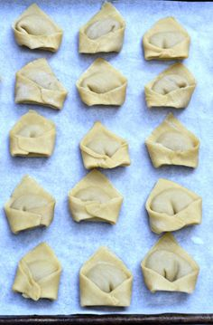 How to make kreplach, the best of the Jewish soup dumplings! Pasta dough filled with a chicken and shallot mixture. Step-by-step tutorial!