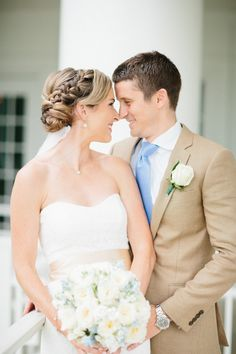 Classic Country Club Virginia Wedding from Abby Grace Photography - updo wedding hairstyle Romantic Wedding Hair, Mod Wedding, Best Wedding Dresses, Wedding Updo, Wedding Hairstyles, Dream Wedding, Bridesmaids Hairstyles, Wedding Hair Inspiration, Wedding Ideas