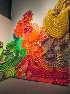 Mesmerizing Wall Collages Made of Paper and Plastic Cups - feed2know