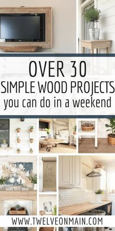 Check out over 30 simple wood projects that can be done in a weekend. via Check out over 30 simple wood projects that can be done in a weekend. Wood Projects For Beginners, Easy Wood Projects, Beginner Woodworking Projects, Wood Working For Beginners, Popular Woodworking, Diy Pallet Projects, Fine Woodworking, Woodworking Crafts, Woodworking Classes
