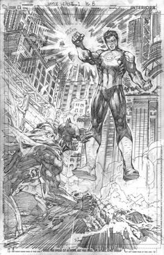 Justice League 1 page 8, pencils/Search//Home/ Comic Art Community GALLERY OF COMIC ART