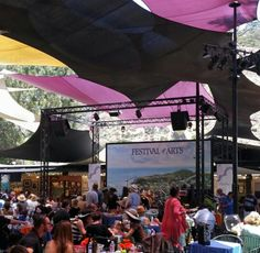 Festival of the Arts stage, Laguna Beach, CA ~ what a gorgeous, upscale venue!