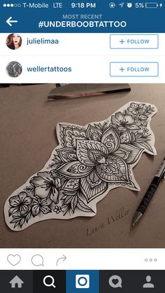 underboob tattoo idea
