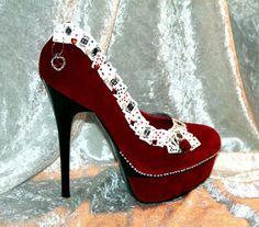 The 'Queen of Hearts' Stiletto Heels by ThatFairytaleFeeling