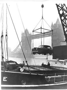 1951: The Marshall Plan in Action. Aid provided under the Marshall plan being unloaded at the Port of London.