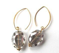 Quartz drop earrings by LauraEvaDesigns
